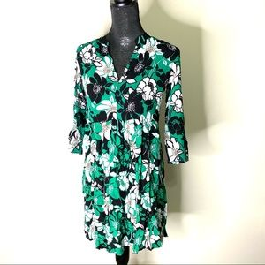 Anthropologie Maeve Bold Floral Tunic Dress